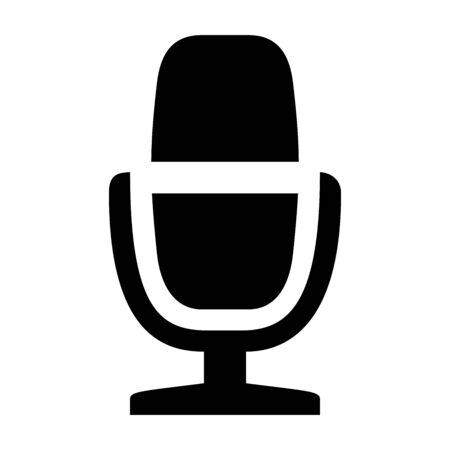 Old- fashioned radio microphone icon vector illustration - Sign,symbol,icon,etc.