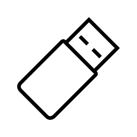 USB flash drive or Pen drive icon vector illustration - Perfect for sign,symbol,icon