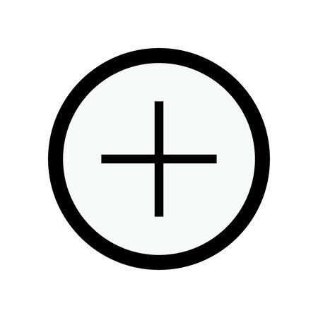 Add icon circle plus button vector illustration. - Symbol,icon,sign,more,zoom etc.  イラスト・ベクター素材