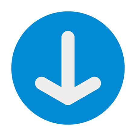 Down arrow icon- pointing towards down vector. Perfect for symbols,icon,sign,label,button etc. Banco de Imagens - 132194816