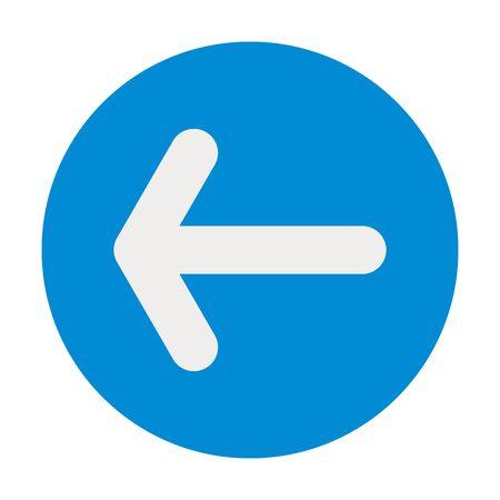 Vecteur d'icône de flèche gauche ou arrière - pointant vers l'arrière. Parfait pour les symboles, les icônes, les signes, les étiquettes, les boutons, etc.