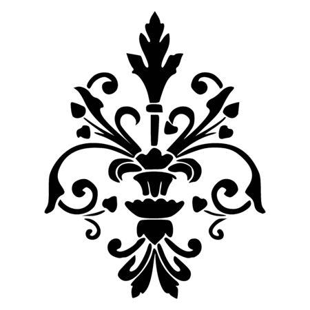 Royal fleur de lis silhouette vector illustration - Symbol,icon,sign etc.