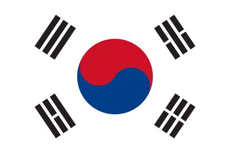 South korea flag vector, korean national patriotic symbol illustration - Symbol,sign,icon,sticker,backgrounds and wallpapers.