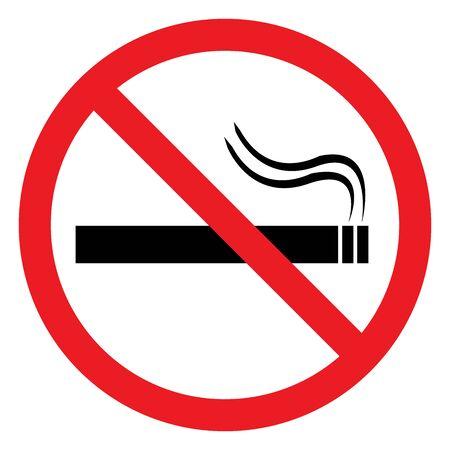 No smoking sign vector illustration.Do not smoke. Red circle.