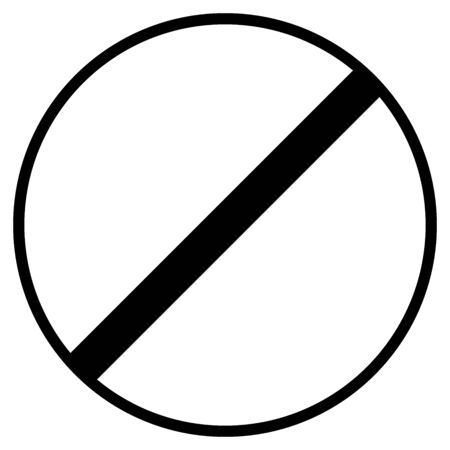 End of speed limit vector illustration- Road traffic sign.