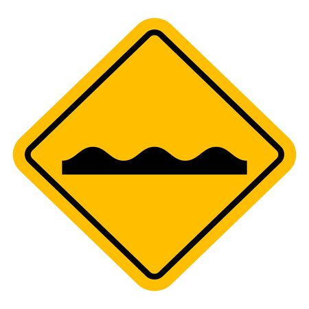 Road sign uneven traffic symbol vector illustration. Perfect for sticker,label,symbol,sign,icon,backgrounds etc. Illusztráció