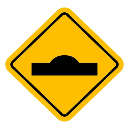 Speed breaker hump traffic sign vector illustration. Perfect for sticker,label,symbol,sign,icon,backgrounds etc. Ilustração