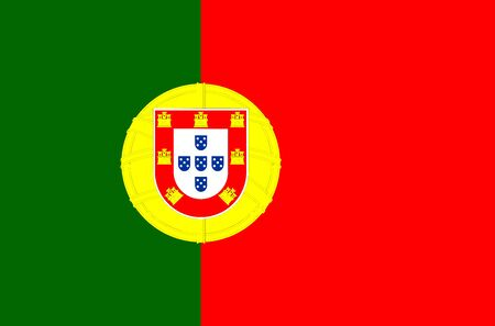 Perfect portugal national flag vector illustration background. European country. Çizim