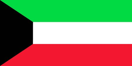 Kuwait national flag vector graphic illustration background. Middle east country.