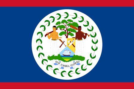 Belize flag vector insignia illustration graphics design