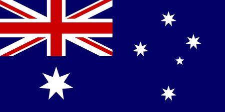 Flag of australia vector illustration background. Travel destination symbol. Çizim