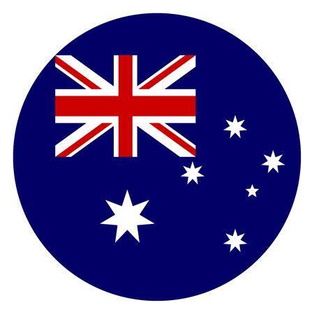 Australia round flag icon vector illustration. European union country.