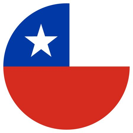 Official chile flag round icon vector illustration