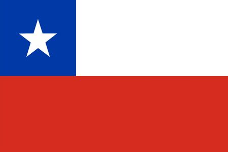 Chile flag official vector illustration. South american country.