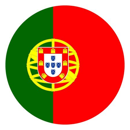 Portugal flag round icon vector illustration. European country.