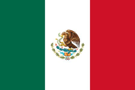 Mexico flag vector illustration. North american country.
