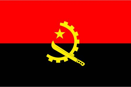 Angola flag vector illustration background. African country.
