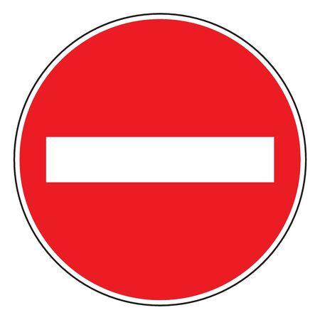 Do not enter traffic sign blank vector illustration graphics design. Red background.