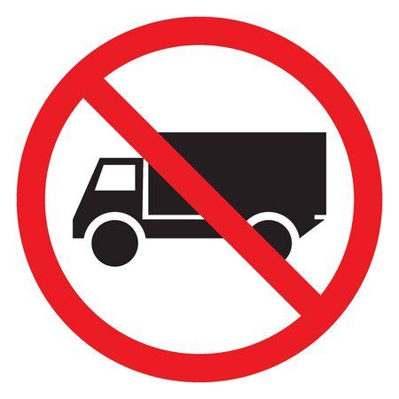 No truck traffic warning symbol vector illustration Illustration