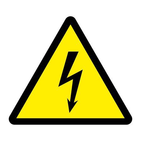 Danger high voltage thunder lightning vector illustration