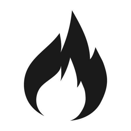 Fire flames icon vector illustration graphics design. Black isolated.
