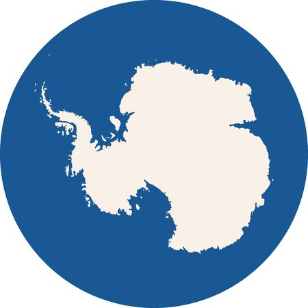 Antarctica continent icon vector background. Blue, white.  イラスト・ベクター素材