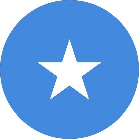 Somalia flag icon vector illustration. Perfect for icon, sign, symbol, label, sticker etc. Vektoros illusztráció
