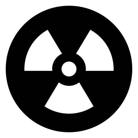 Radioactive nuclear hazard sign icon vector illustration graphics design. Black, white color.