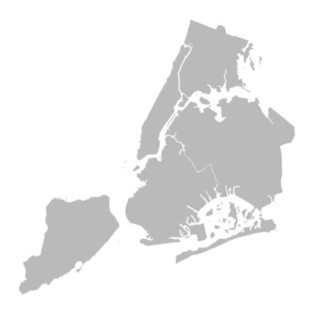 New york city map vector graphics design. Gray background. Perfect for backgrounds, backdrop, business concepts, education, poster and wallpapers.
