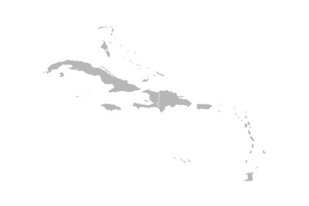 Caribbean island map vector graphics design. Gray background. Perfect for business concepts, backgrounds, backdrop, banner, poster, sticker, label and wallpapers.