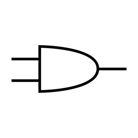 And gate circuit symbol or Logic gate diagram vector. Sign, icon, symbol.