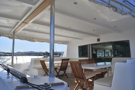 yacht people: on board a catamaran