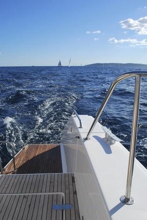 on board a catamaran