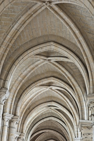voute of laon cathedral, town in picardy in france