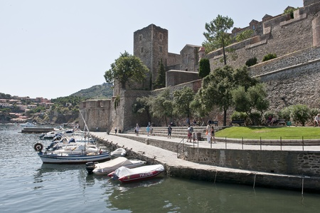 france, fortress in collioure on the mediterranean Editorial