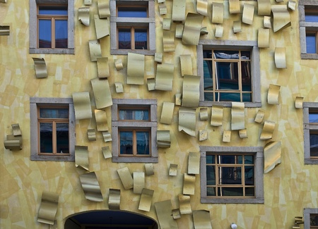 facade of a building in dresden germany Editorial