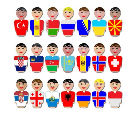 moldova: People from Europe dressed in their national flags