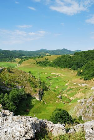 High view of a lush green valley Stock Photo - 5084998
