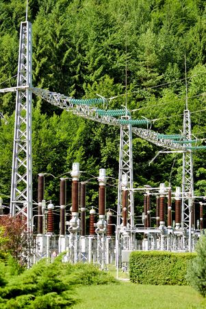 electricity supply: Electricity supply station setup Stock Photo