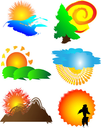 Sun logo image set Stock Vector - 5588122