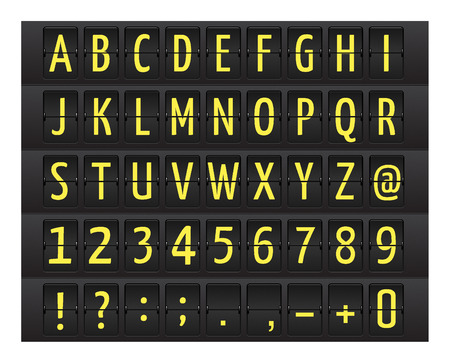 display type: Stylish airport time table