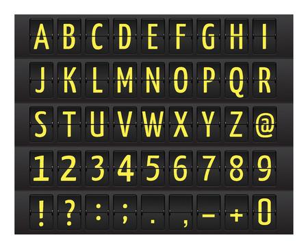 display type: Tabla de tiempos de aeropuerto con estilo