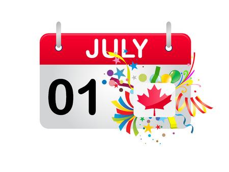 Holiday-Kalender-Kanada-Nationalfeiertag  Vektorgrafik