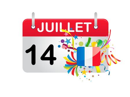 calendario julio: D�a nacional de Francia de calendario de vacaciones