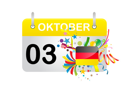 oktober: Holiday Calendar GERMANY National Day