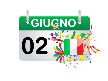 Holiday Calendar ITALY National Day  Stock Vector - 8727389