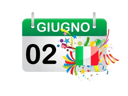 Holiday Calendar ITALY National Day Stock Vector - 8727389