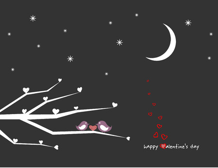 Valentines Day Pretty Vector Illustration  Vector