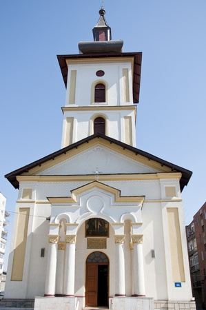 Beautiful orthodox church in a Romanian town Stock Photo - 13015002