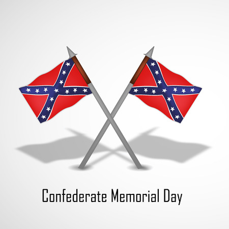 Illustration of U.S South Flag for Confederate Memorial Day Illustration